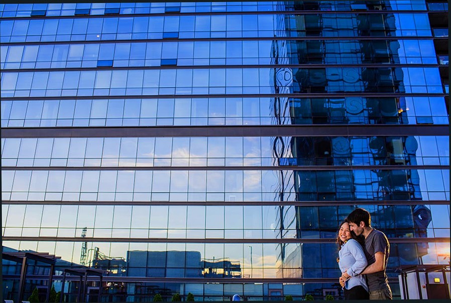 Chicago downtown engagement photograph by Candice C. Cusic
