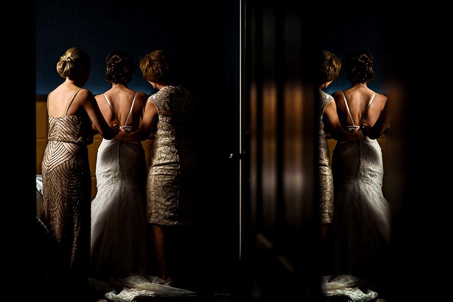 Chicago bridal gown hotel wedding
