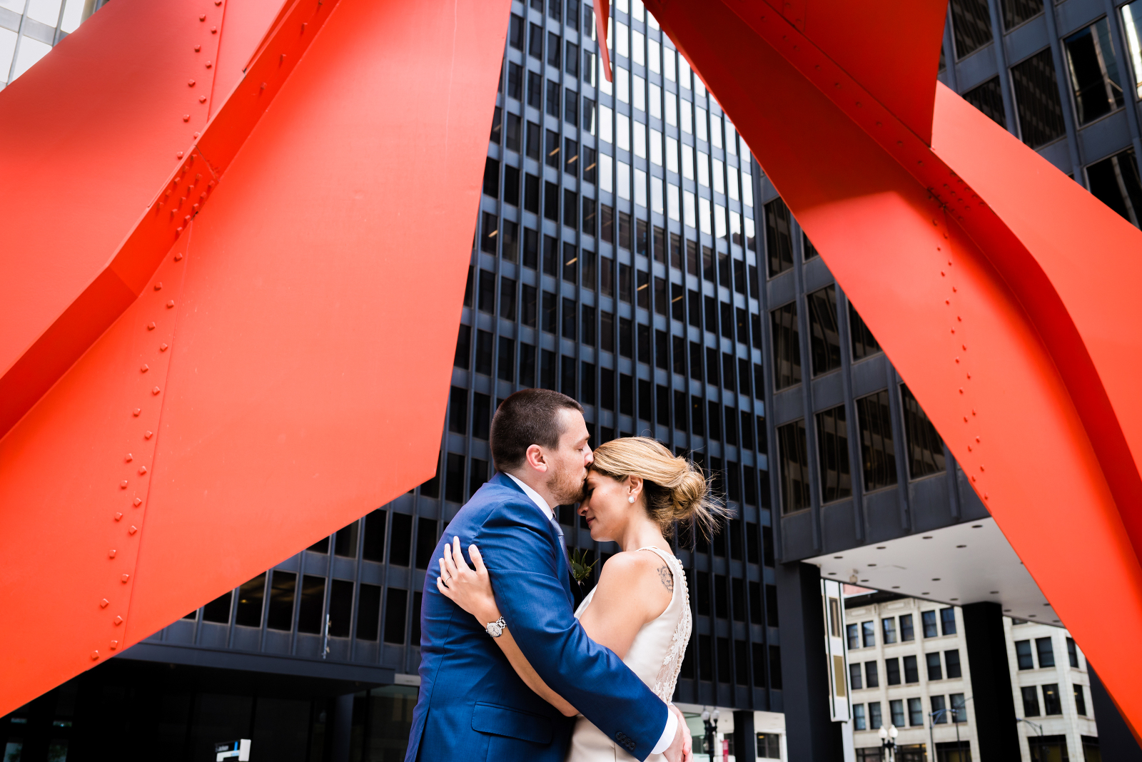 downtown chicago courthouse wedding