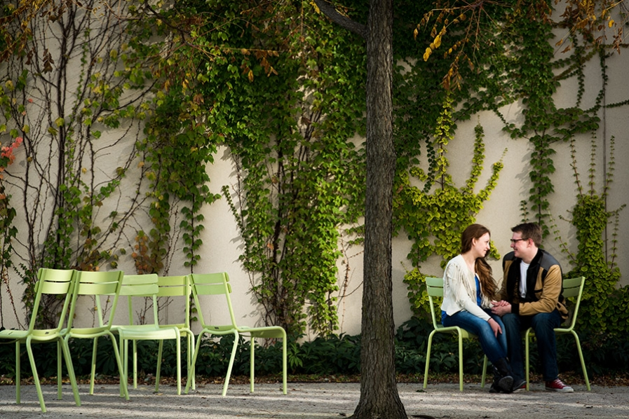 Chicago Art Institute engagement session by Candice Cusic