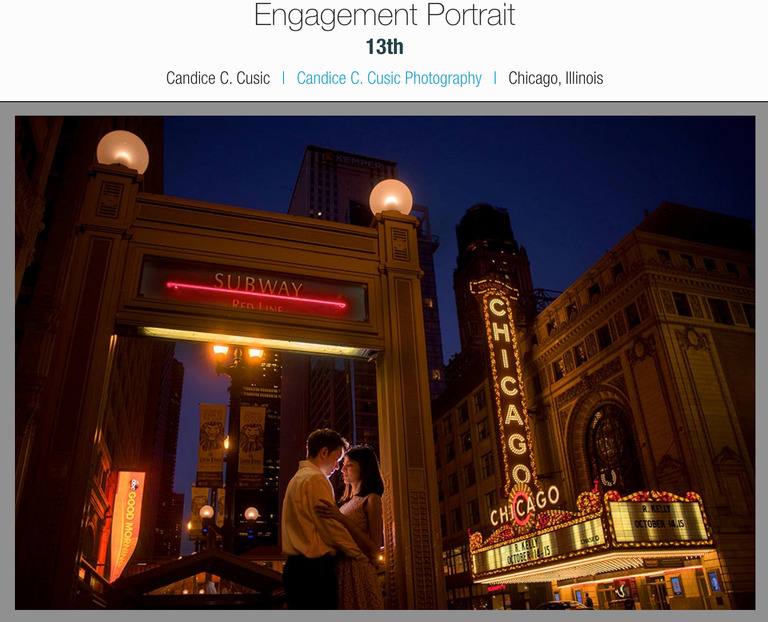 Downtown Chicago Engagement Photography Chicago Theater