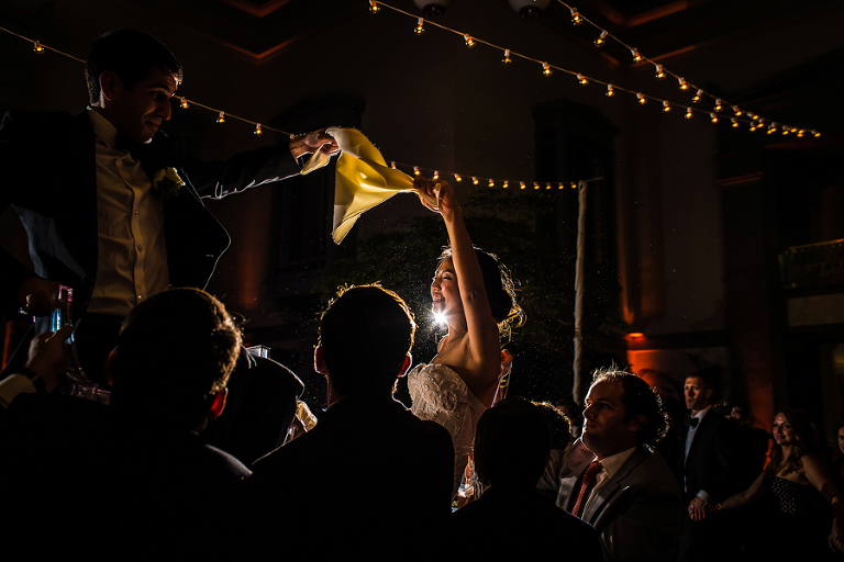 Jewish wedding hora wedding photography by Candice C. Cusic