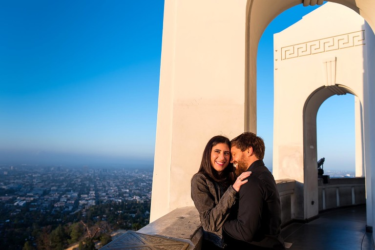 Los Angeles Griffith Observatory engagement session