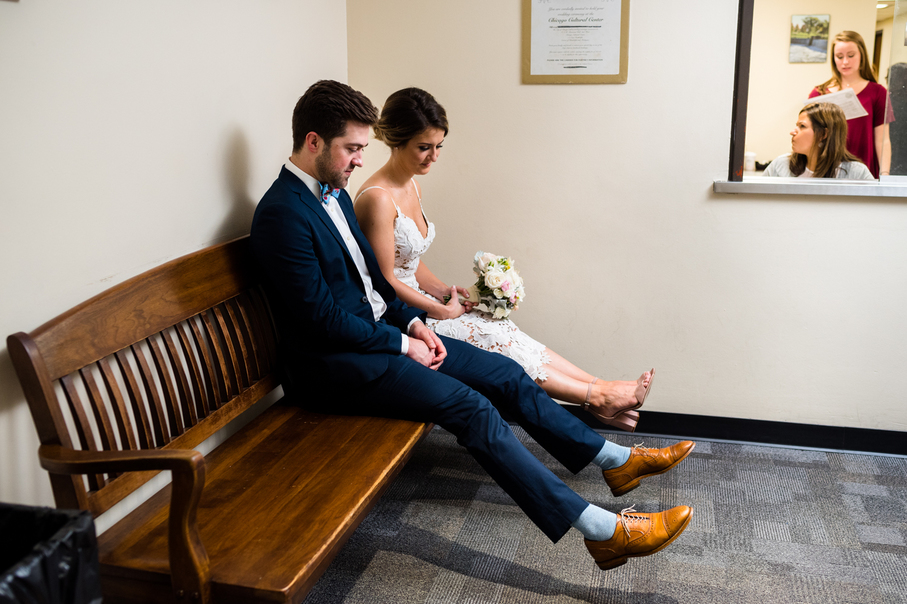 Chicago courthouse wedding photography by Candice Cusic