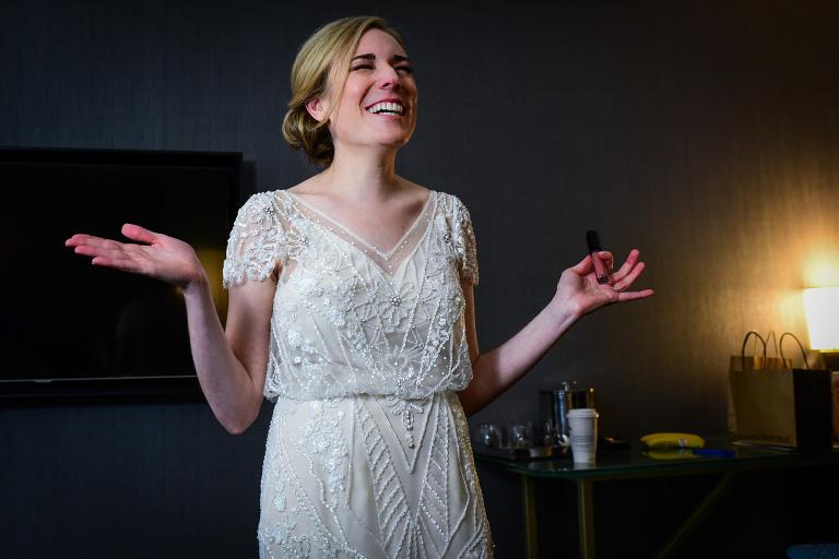Bride getting ready by Candice Cusic