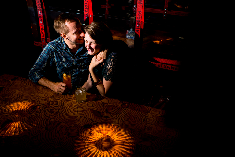 Fireside Bowl engagement photo