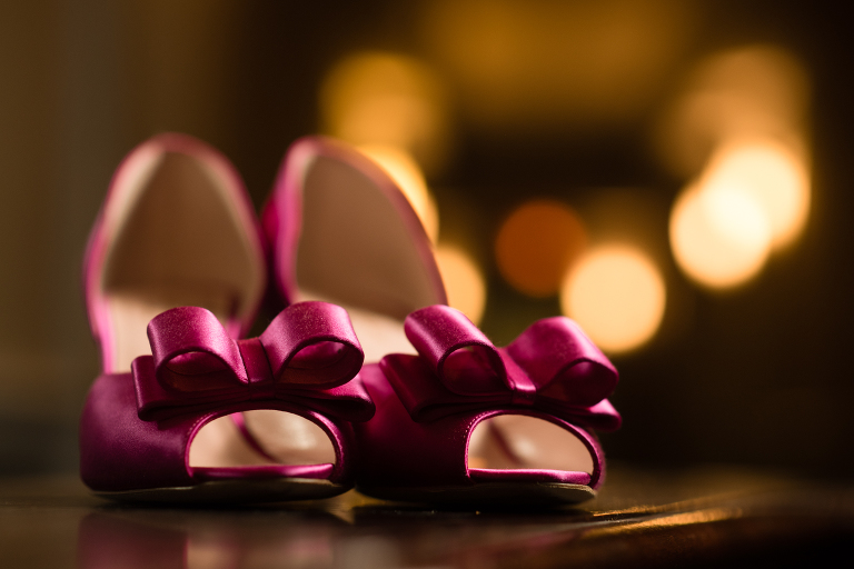 Purple wedding shoes a New Leaf wedding
