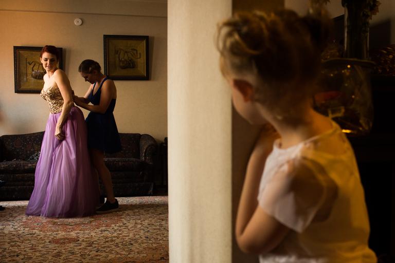 Purple wedding gown A New Leaf wedding photography