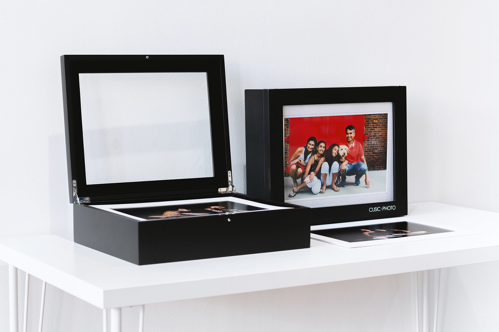 Custom portrait box by Candice Cusic Photography